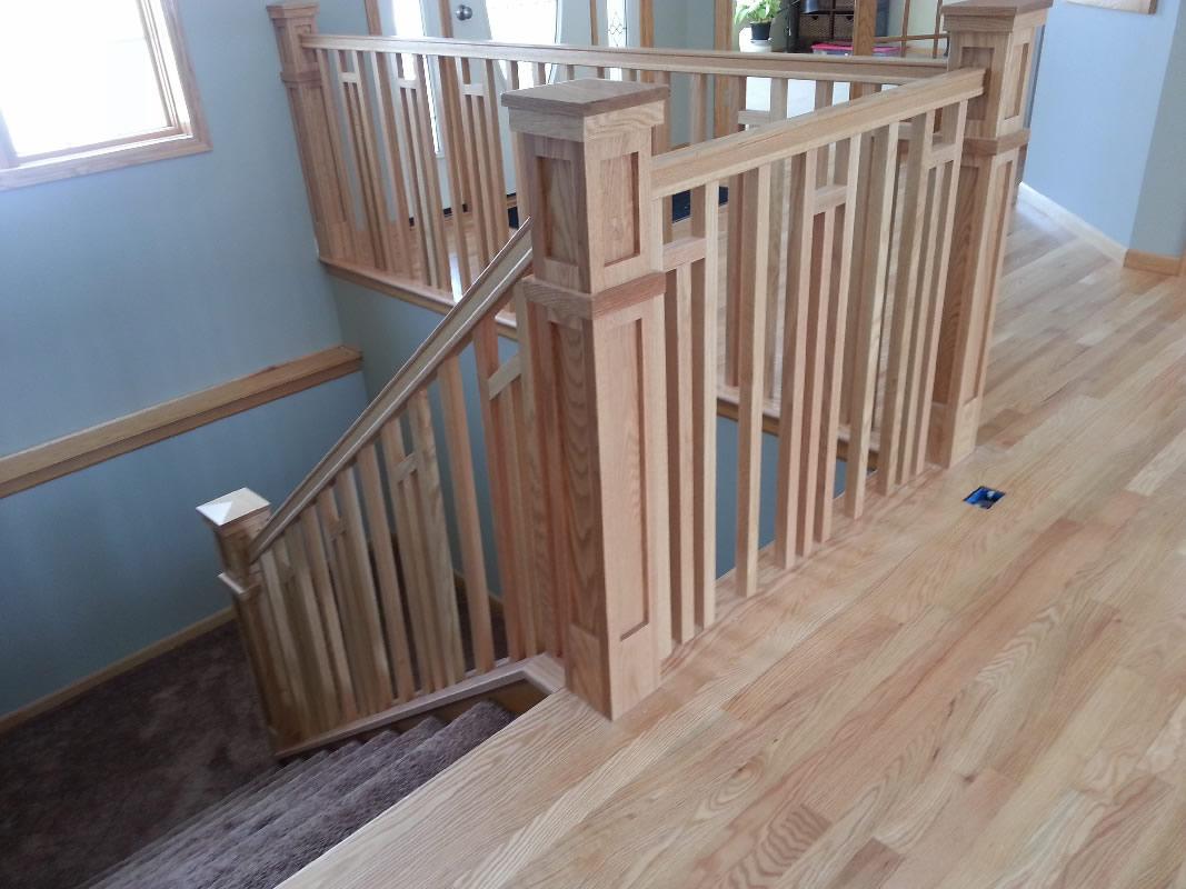 Frank lloyd wright style railing mystairways for Decorative railings
