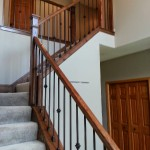 Clean Style Oak And Iron Railing
