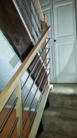 Maple And Tubing Switchback Custom Stair Railing