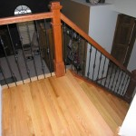 Natural Cherry Railing With Iron Spindles Lakeville