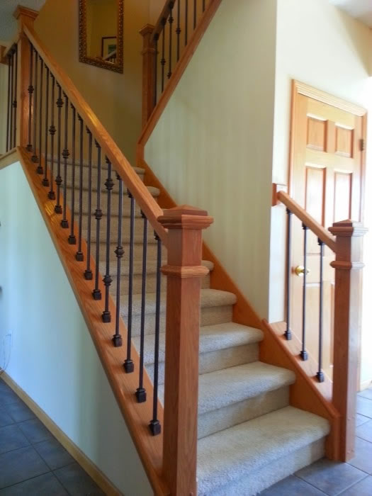 Oak And Iron Spindles - MyStairways