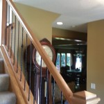 Oak And Iron Spindle Stairway Railing MN