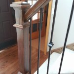 Oak Newel Post Iron Spindles Minnetonka