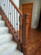 Oak Railing With Iron Spindles