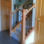 Stair Railing Oak And Iron Spindles