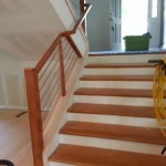 Wood And Horizontal Tubing Railing