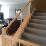 Custom Designed Maple Railing With Cable