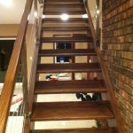 Custom Designed Open Riser Stairway Installation