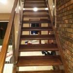 Custom Designed Open Riser Stairway Installation