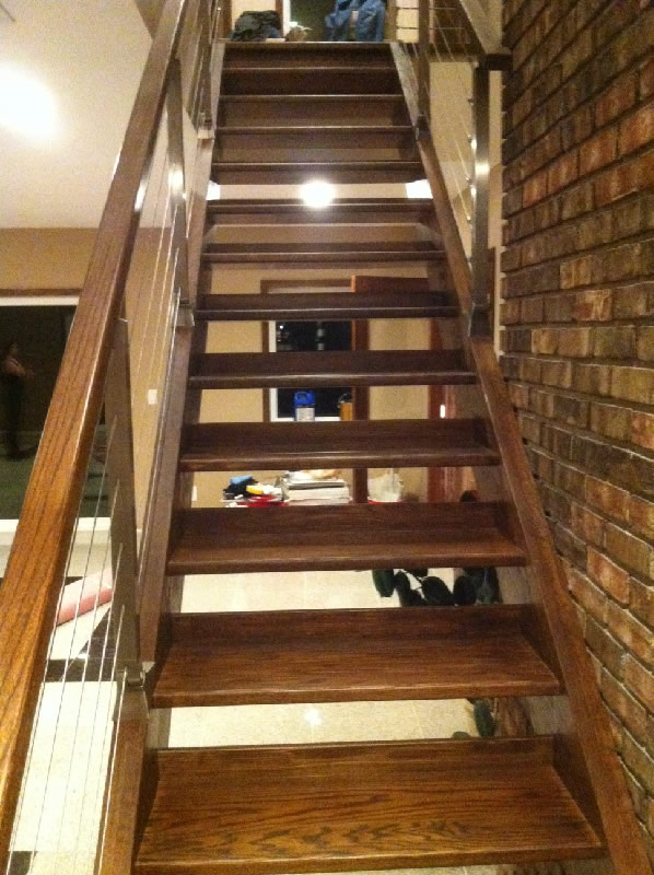 Superb Custom Designed Open Riser Stairway Installation