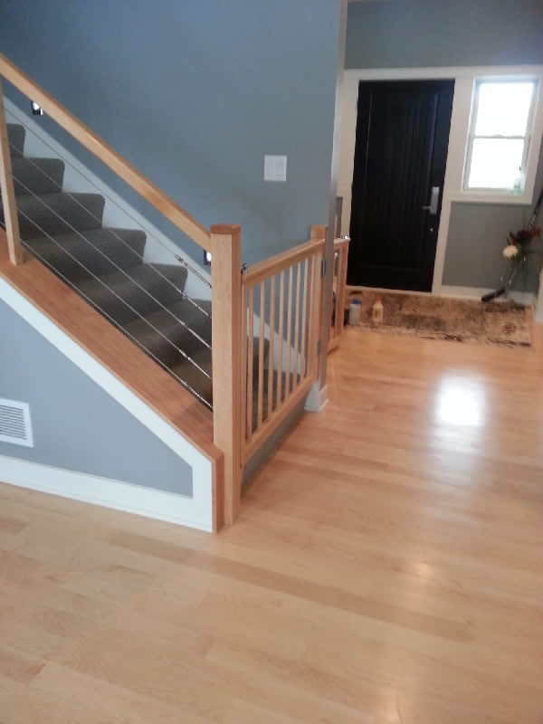 Maple cable and custom gate mystairways for Stair designer online