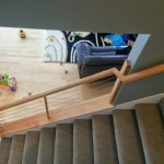 Maple Handrail With Cable Installed