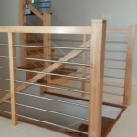 Maple With Stainless Tubing Custom Railing