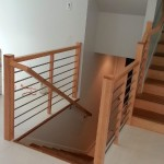 Maple With Stainless Tubing Stairway