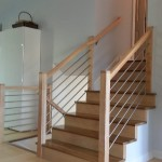 Stainless Tubing With Maple Stair Railing