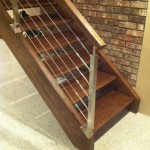 Stairway Landing Cable Open Riser Design