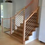 Tubing And Maple Custom Stair Railing