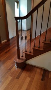 MN Cherry Railing And Steps Install
