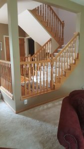 Before Railing Project Shoreview MN