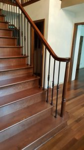 Cherry Steps And Railing