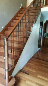 Custom Cherry Railing Install MN