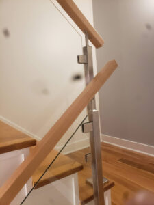 Stainless Steel And Glass Stair Rail 004